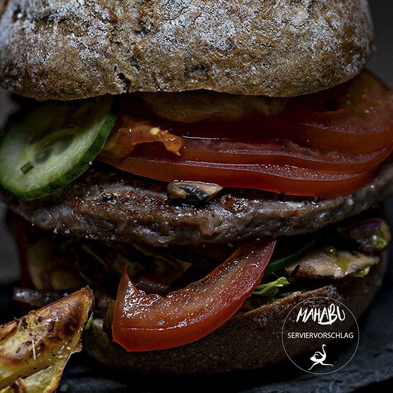 MAHABU Strauß Burger Pattie Hamburger