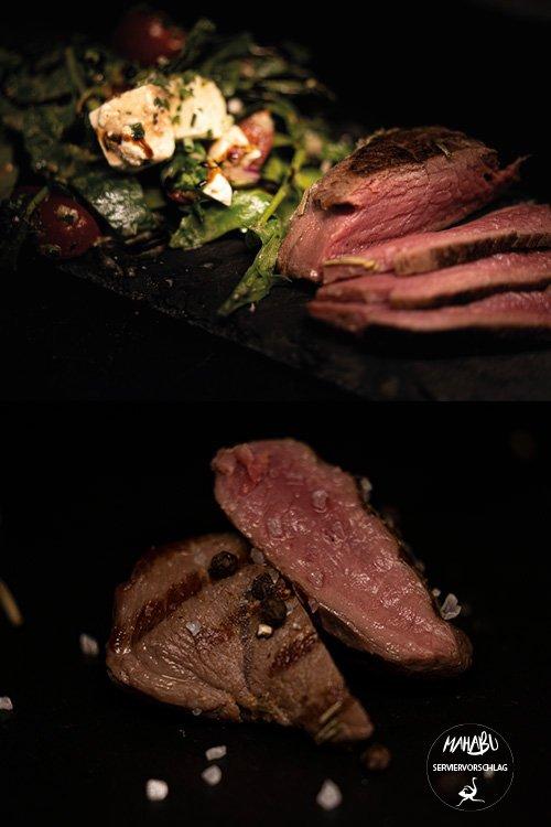 Straußenfleisch zubereitet